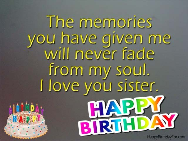 Happy birthday wishes cards for younger sister