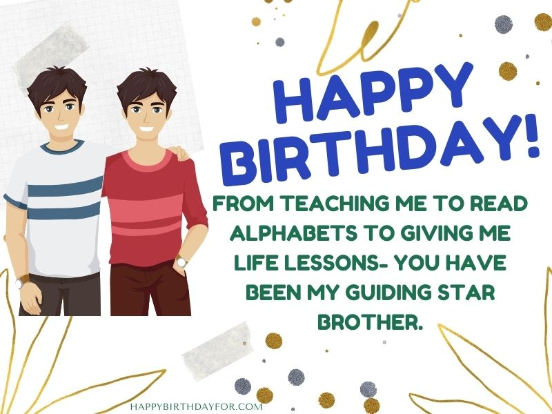 Birthday Wishes for Elder Brother Image