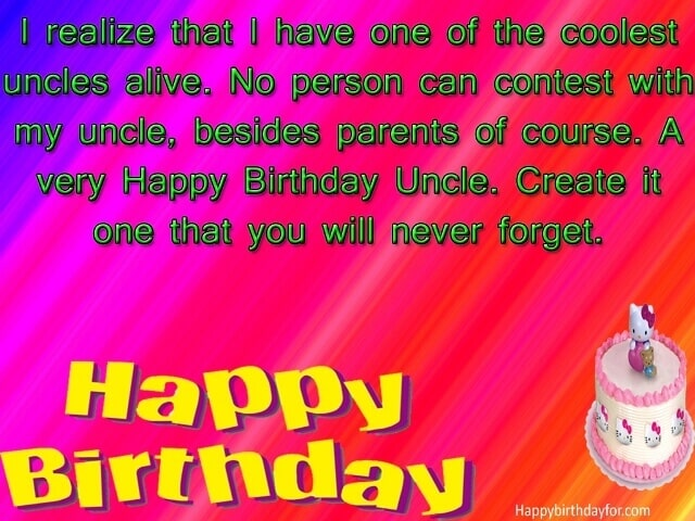 Birthday Wishes for Uncle sms messages pictures gifts photos wallpapers cards quotes