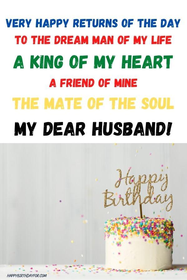 Birthday poem Image For dear Husband