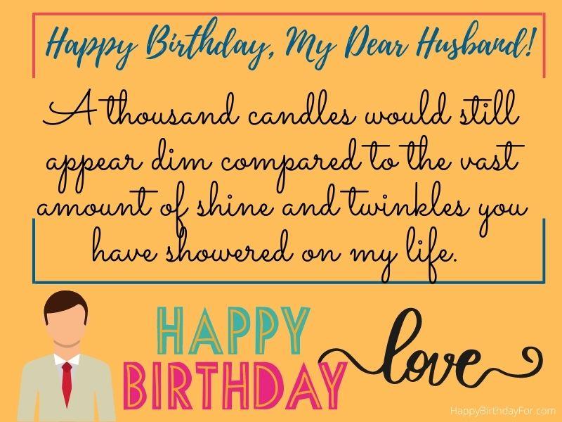 Happy Birthday My Dear Husband Wishes