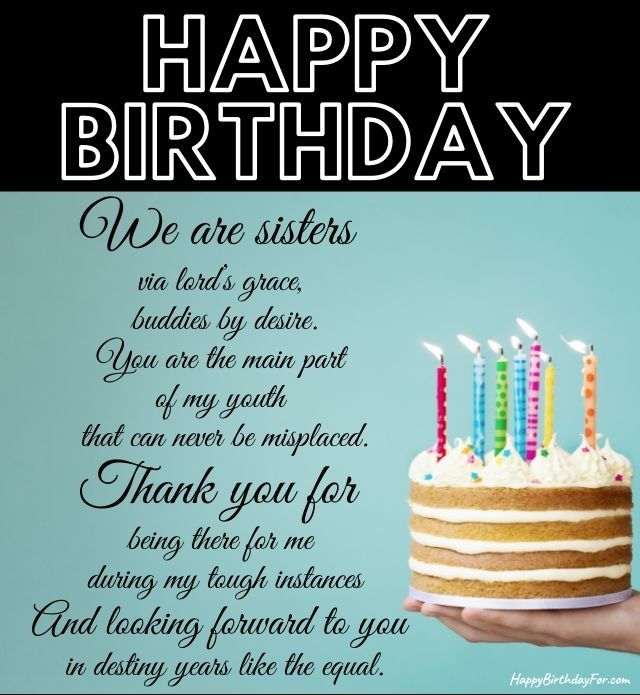 Happy Birthday Poem Image For Sister messages