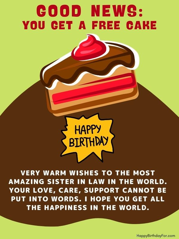 Happy Birthday Sister In law wishes image