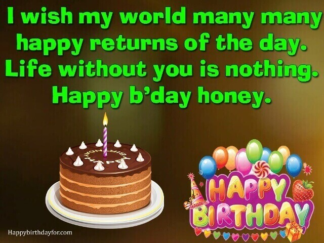 200 Happy Birthday Wishes Messages Sms Text Quotes For Wife