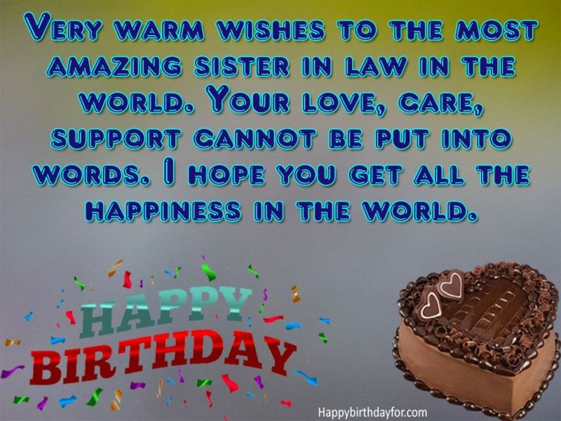 Happy birthday greeting card for elder sister in law messages