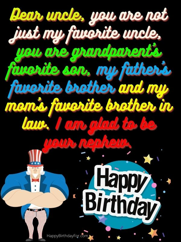 Happy birthday wishes for uncle image