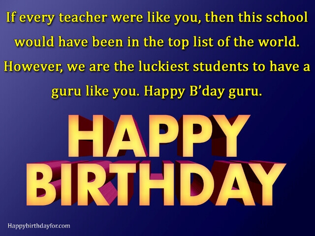 50 Best Happy Birthday Wishes For Teacher With Images
