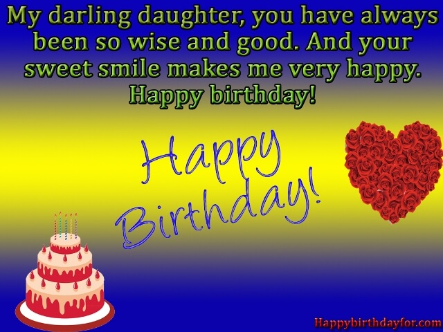Birthday Wishes for Daughter from mom card photos pictures images wallpapers messages