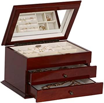 Classy wood jewelry box