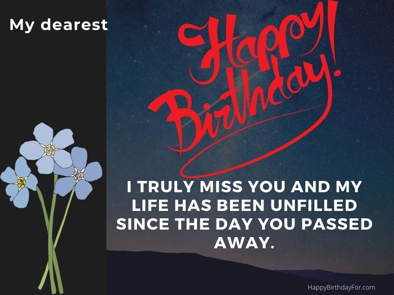 Happy Birthday Wishes Messages in Heaven who passed away Quotes