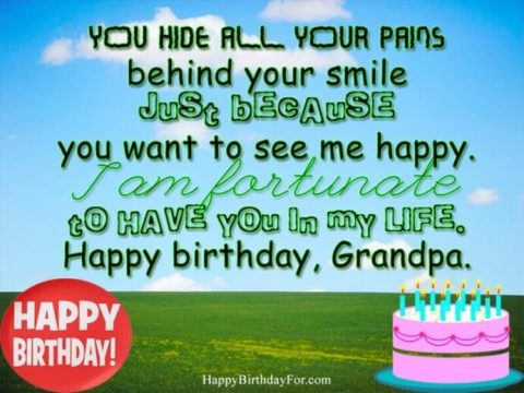 Happy Birthday Wishes Pictures For GrandPa Heaven Passed Away