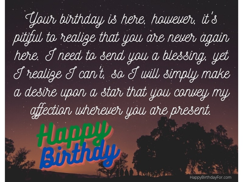 Happy Birthday Wishes messages in Heaven who passed away