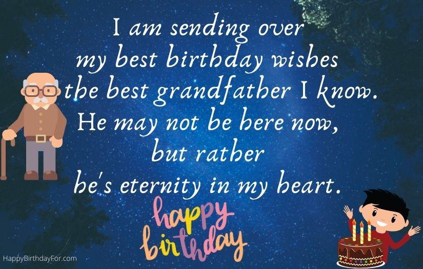 Happy Birthday wishes for grandfather grandpa in heaven image