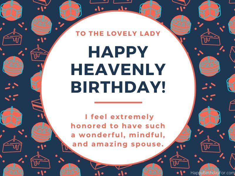Happy Heavenly birthday wishes for wife