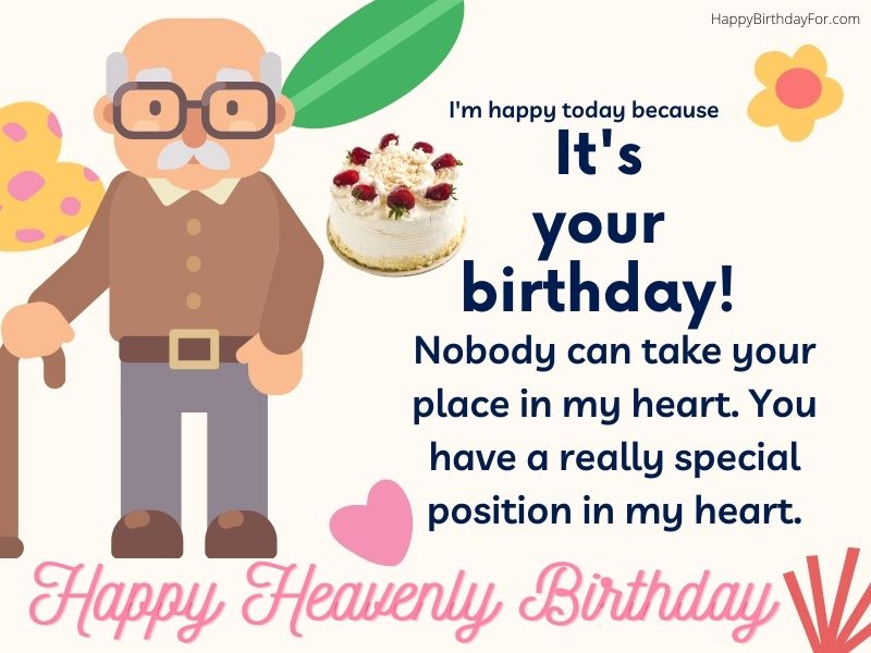 Happy heavenly Birthday wishes for grandpa grandfather