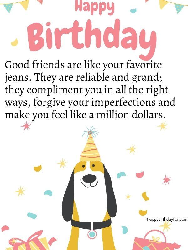 happy birthday friends wishes image