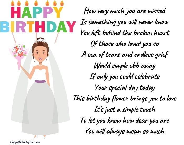 happy birthday poems for a wife who is in heaven image