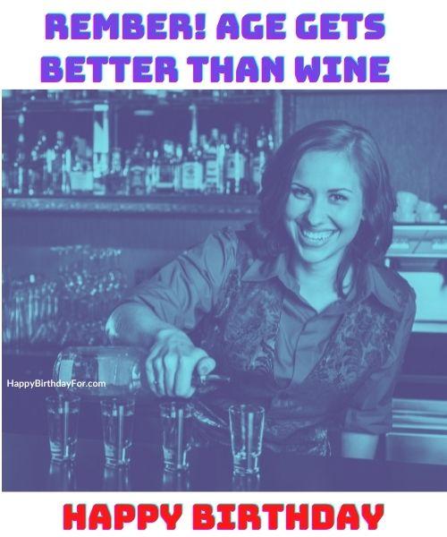 Happy Birthday Meme Image for Her Wine Girls
