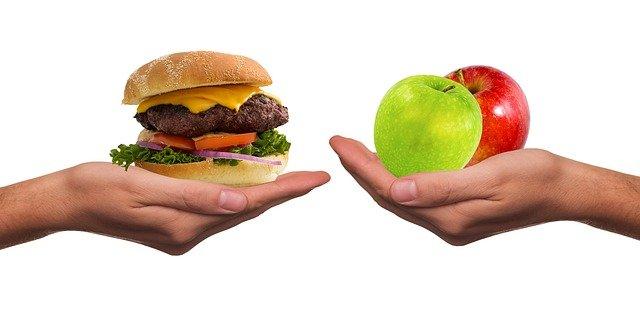 eat food apple junk food fasting