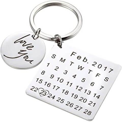 Custom Special Date Keyring