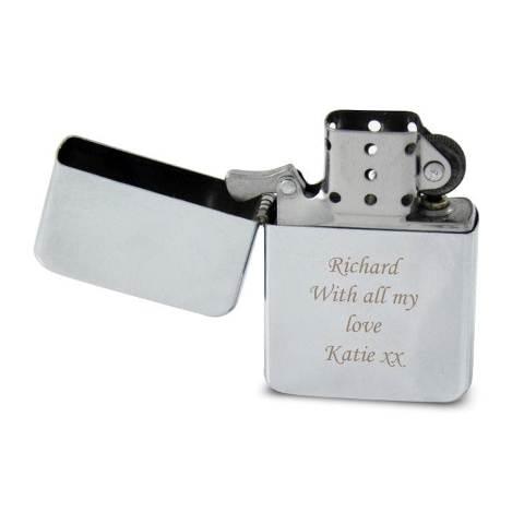 Customized Engraved Chrome Petrol Lighter