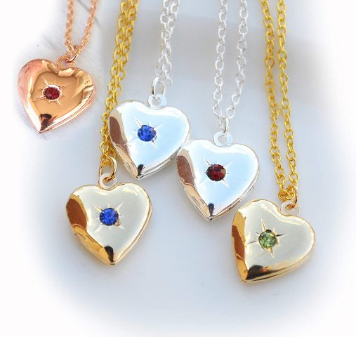 Gift her a heart-shaped locket.