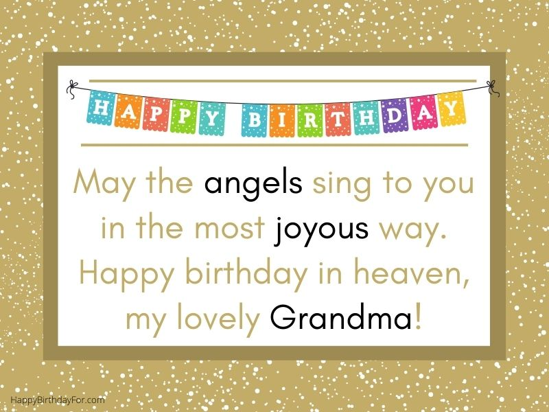 Happy Birthday Wishes for Grandma Grandmother in Heaven Who Passed Away