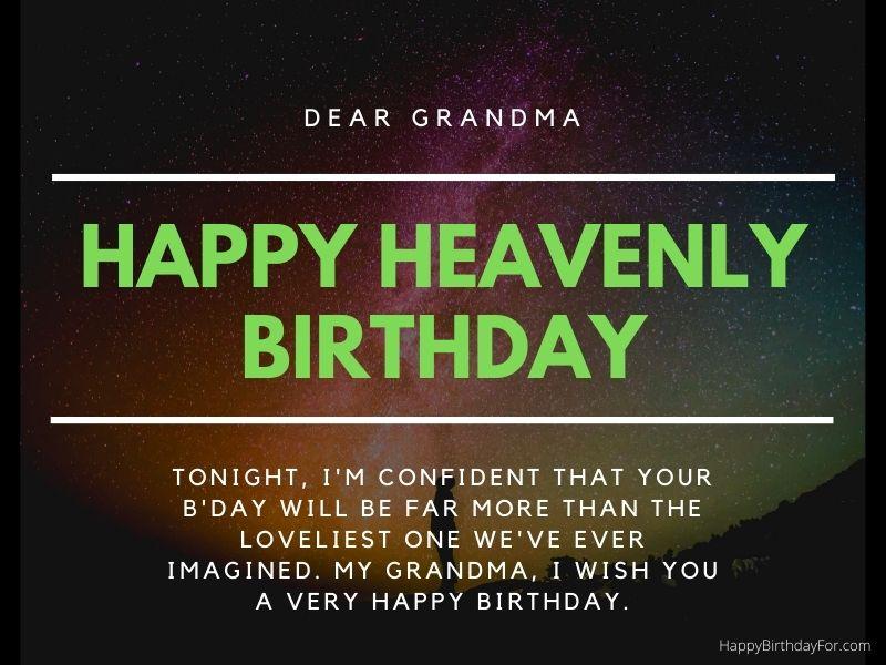 Happy Birthday wishes grandma in heaven