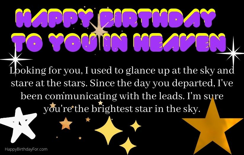 Happy Birthday wishes in heaven image designs