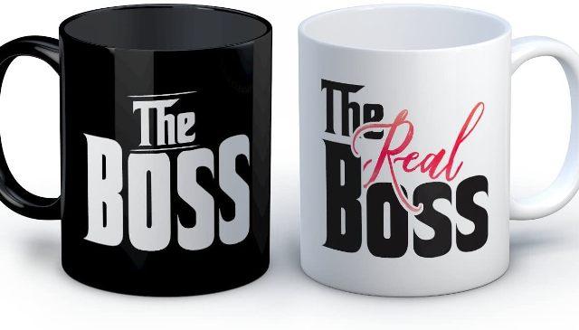 The Real Boss Personalized Mug Set