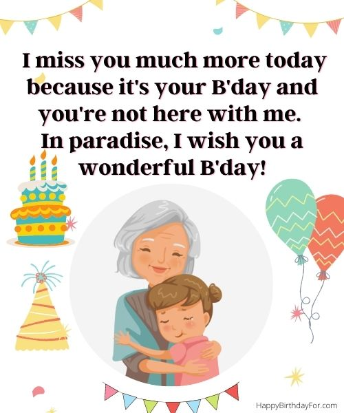 birthday wishes for grandma in heaven who passed away