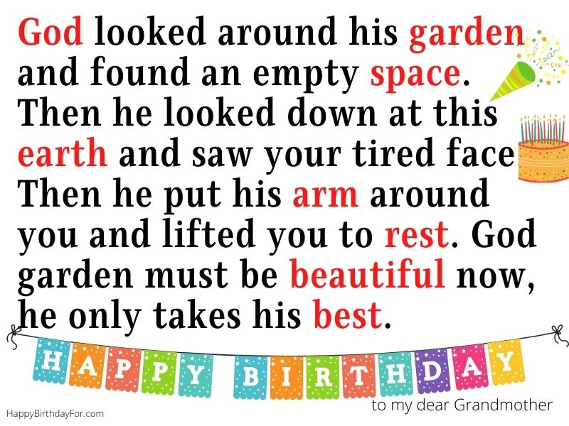 happy birthday for grandma in heaven wishes messages who passed away