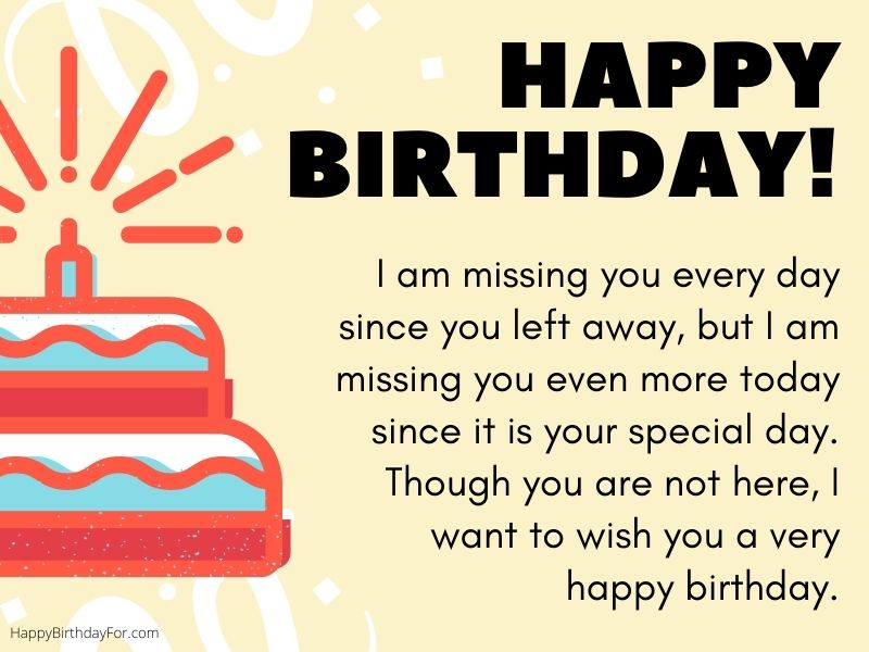 happy birthday wishes for someone in heaven who are passed away