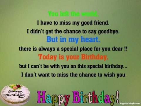 Happy Birthday Wishes Cards Image for Best Friends in Heaven