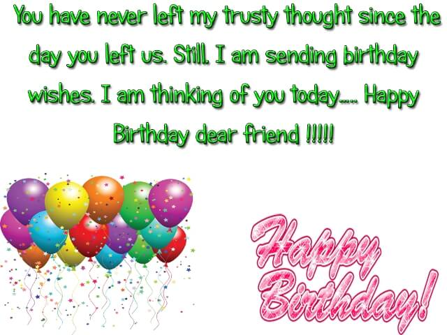 Happy Birthdays Wishes for Best Friends in heaven messages images photos wallpapers greeting cards picture
