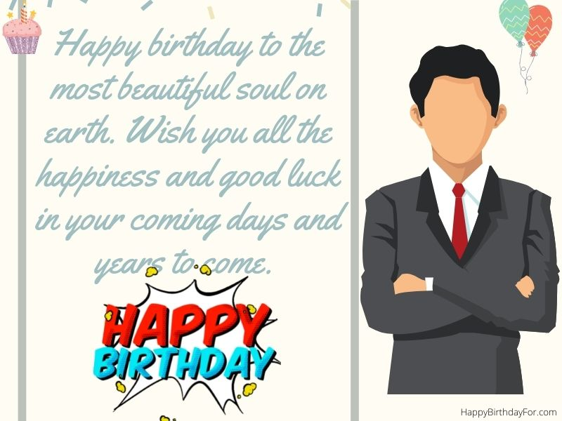 Happy Birthday wishes for boss image man boys