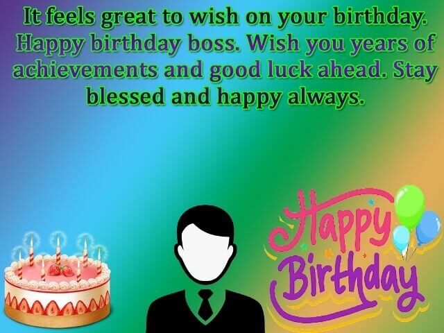 Happy Birthdays Wishes for Boss photos picture wallpapers images  cards messages