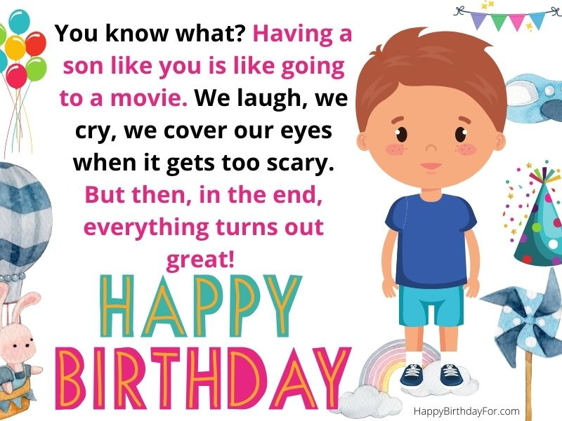 Happy Birthday wishes for son from mom and dad with love image