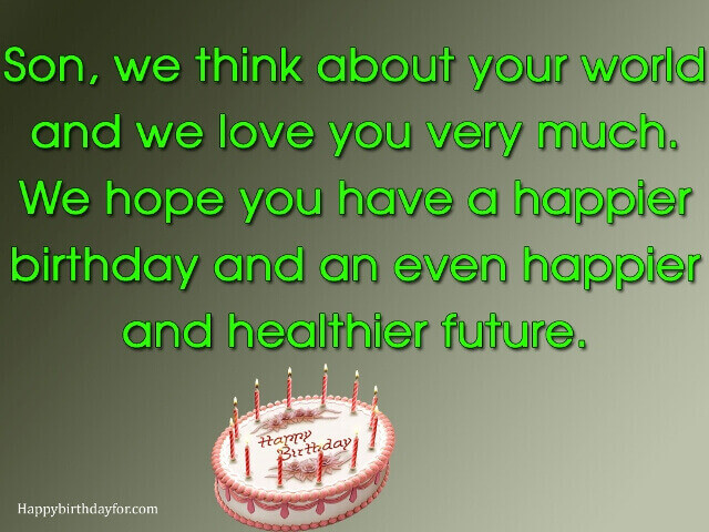 Happy birthdays wishes for son image pictures photos messages greetings cards wallpapers