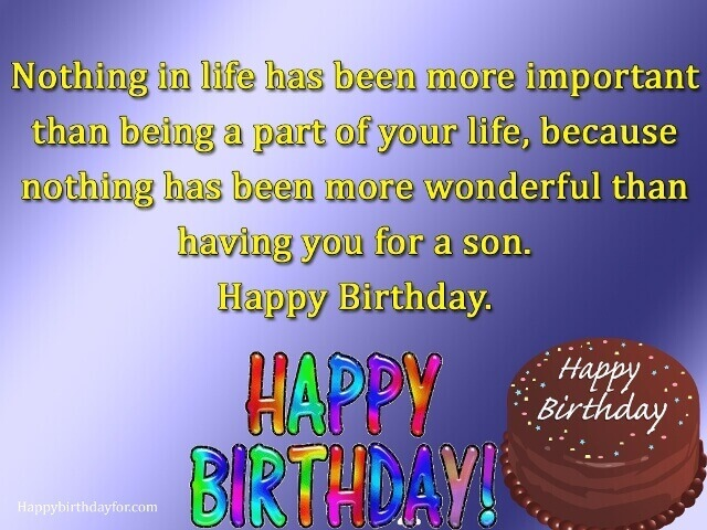 Happy birthdays wishes for son images pictures photoes messages gretting cards wallpapers