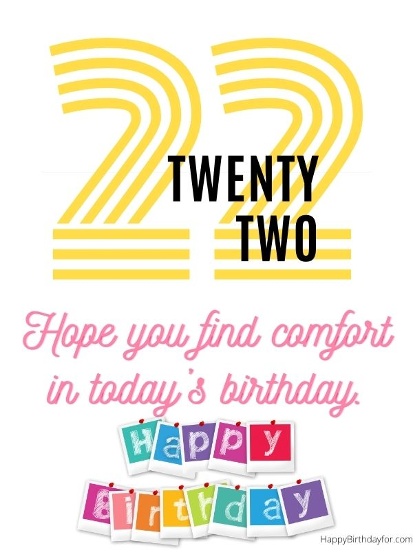 happy birthday my friend images twenty two years of old