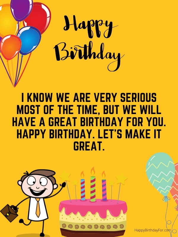 Birthday Wishes For Staff
