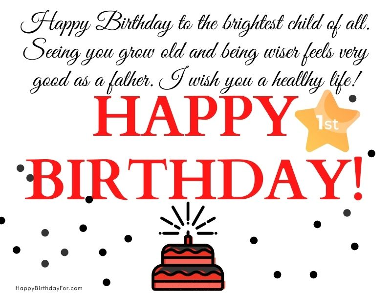99 Awesome 1st Birthday Wishes And Messages For Son From Mom And Dad With Images