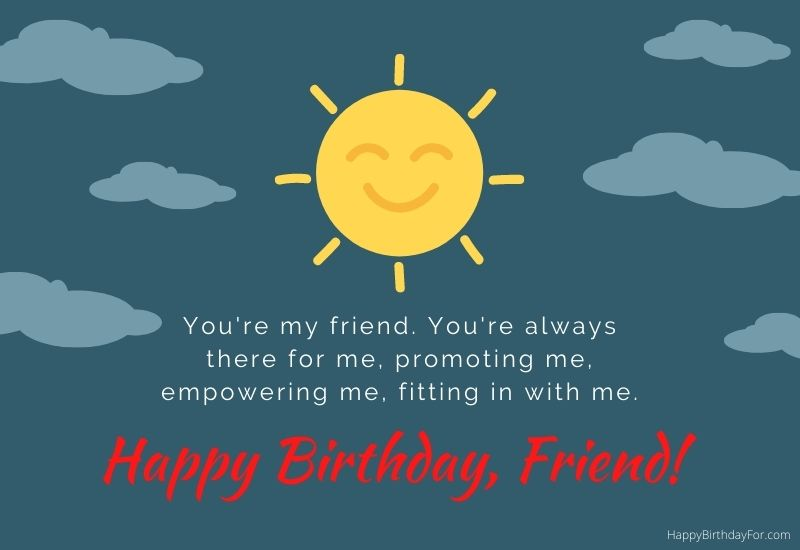 Happy Birthday Friend Messages Image