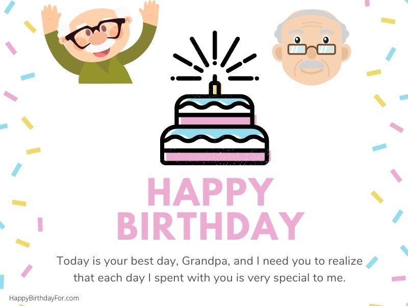 Happy Birthday Grandpa grandfather wishes image