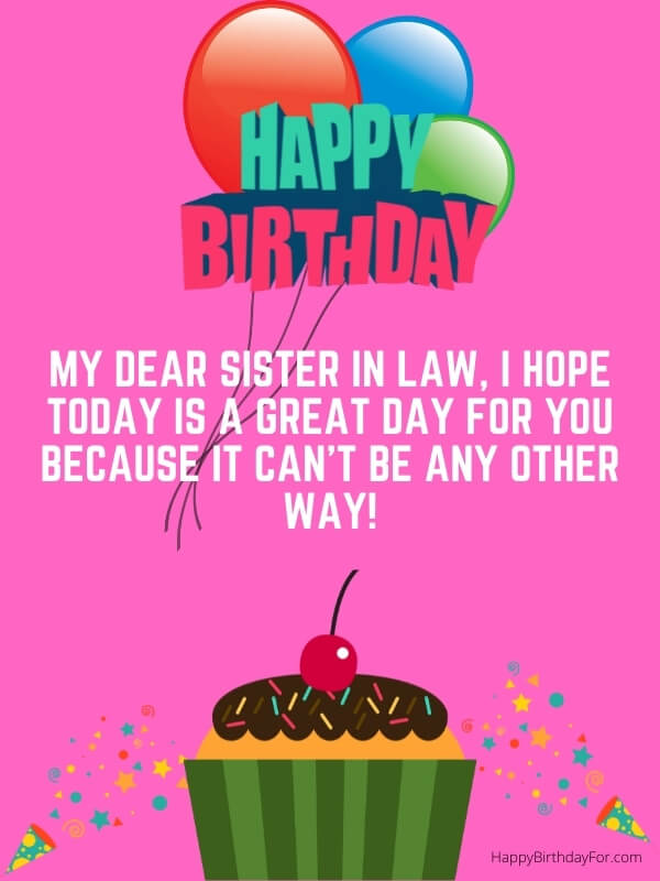 Happy Birthday Images For Sister In Law