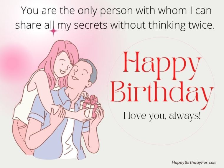 Happy Birthday My Love Wishes Image For Boyfriend Husband Lover