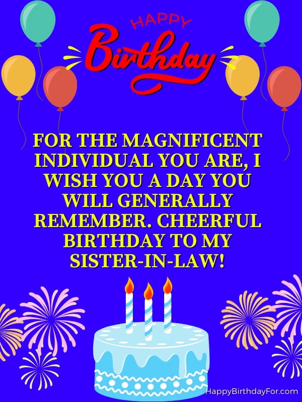 Happy Birthday Wishes For A Sister In Law