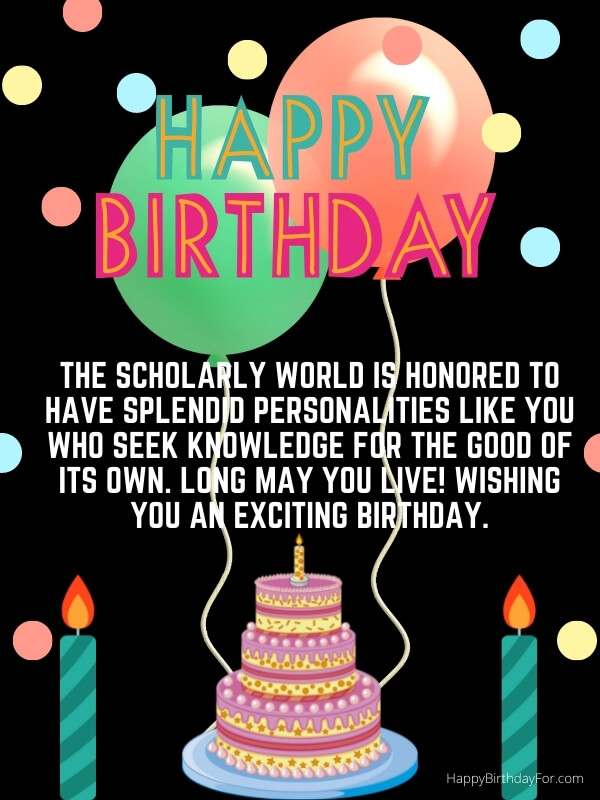 Happy Birthday Wishes For Students From Teacher