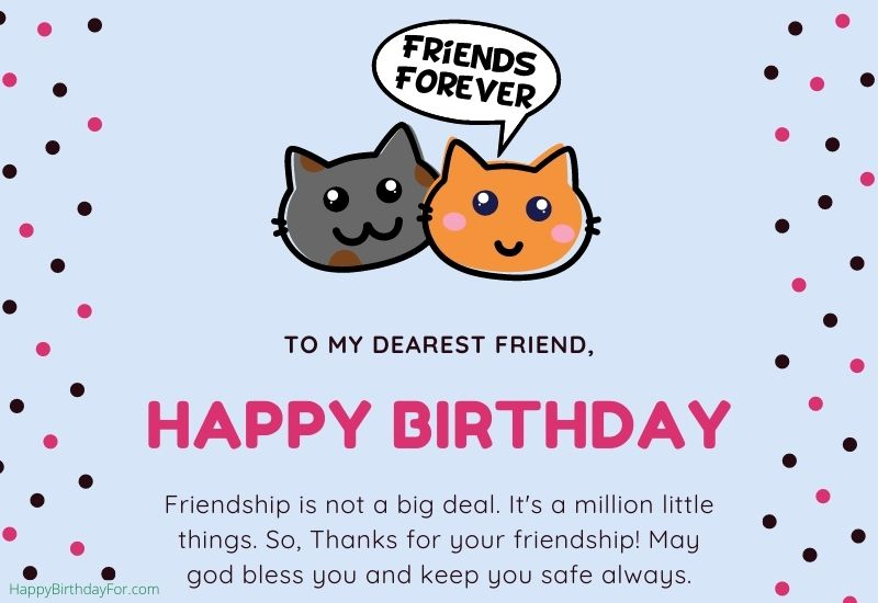 Happy Birthday Wishes for a friend image messages